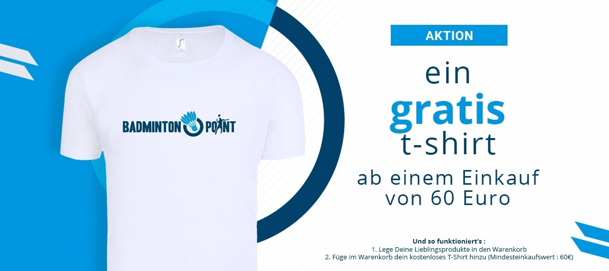 Badminton Point : Gratis t-shirt 60€