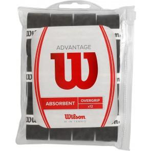 WILSON OVERGRIPS ADVANTAGE OVERGRIP (ABSORBENT) (X12)